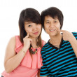 Two young asian women — Stock Photo