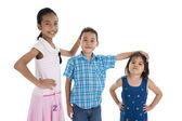 Barn med olika storlekar — Stockfoto