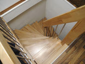 Wood stairs — Stock Photo