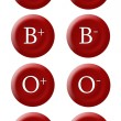 Stock Photo: Blood group buttons