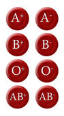 Blood group buttons — Stockfoto