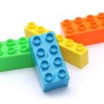 Colorful plastic toy bricks — Stock Photo