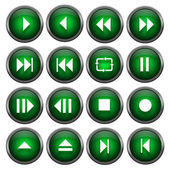 Sixteen Music Buttons — Stock Photo