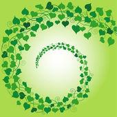вихрем зеленого сердца — Cтоковый вектор