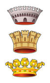 Crown set — Stock Vector
