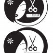 Hairdressing LOGO — Stock Photo