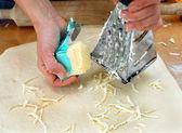 Geraspte boter op deeg — Stockfoto