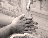 Washing hands — Stock Photo