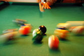 Billiards playing — Stock Photo