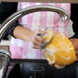 Washing dishes — Foto Stock