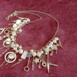 Silver necklace with pearls — Stockfoto