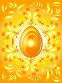 Golden Easter Eggs background — Stock Vector