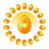 Golden Easter Eggs — Stock Vector