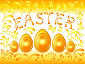 Golden Easter background — Stock Vector
