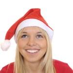 Laughing christmas girl — Stock Photo