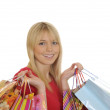 Young woman with shopping bags — Stock Photo #4449099