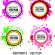 Abstract colourful vector background — Stock Vector #4134230