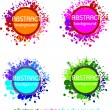 Abstract colourful vector background - Stock Vector