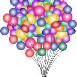 Beautiful Party Balloons Vector — Stock Vector #4317935