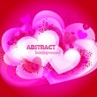 Royalty-Free Stock Vector Image: Abstract hearts. Vector illustration