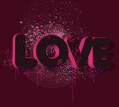 Amore testo — Foto Stock