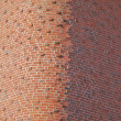 Round Brick Corner - Stock Photo