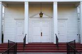 Church steps door — Stock Photo