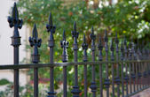 Black spike fence — Stock Photo