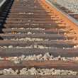 Curved railroad track — Stock Photo