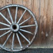 Old wagon wheel — Stock Photo #4231927