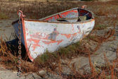 Land locked Boat HDR — Stock Photo