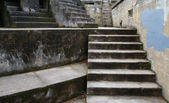 Concrete Bunker Steps right — Stock Photo
