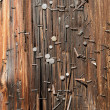 Stock Photo: Utility Pole nails vertical