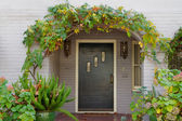 Wisteria arch door — Stock Photo