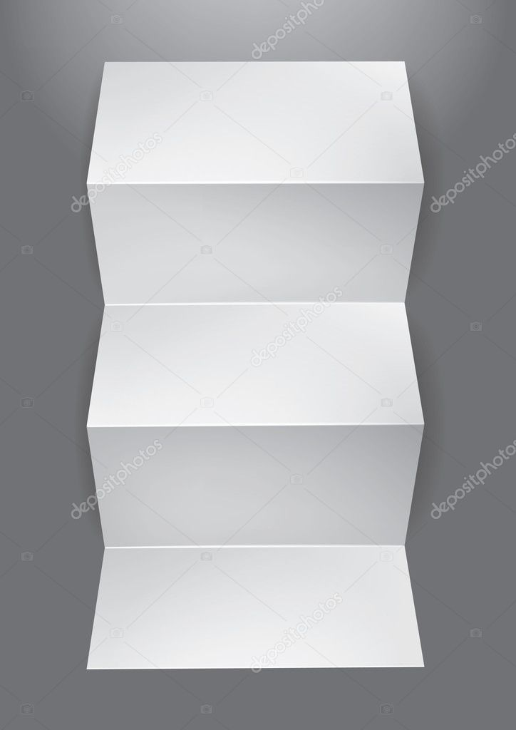 Folded  blank leaflet for your design, eps10 vector — Stock Vector #4972055