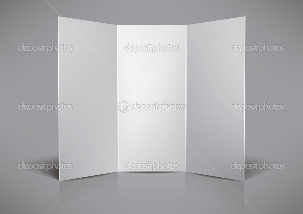 Folded  blank leaflet for your design, eps10 vector — Stock Vector #4972057
