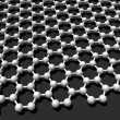 Graphene crystal lattice - Stock Photo