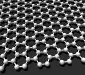 Graphene crystal lattice — Stock Photo