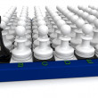 Pawns attack — Stock Photo