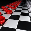 Stockfoto: Great checkers battle