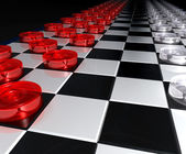 Great checkers battle — Stock Photo