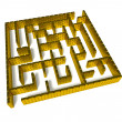 Stock Photo: Gold labyrinth