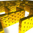 Gold maze — Stock Photo