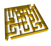 Gold labyrinth — Stock Photo