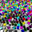 Color glass cubes — Stock Photo