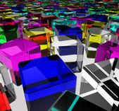Cubes de verre de couleur — Photo