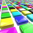 Stock Photo: Rows motley blocks