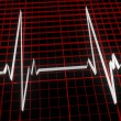 Stock Photo: Three dimensional cardiogram
