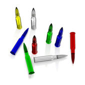 Color glass cartrige — Stock Photo