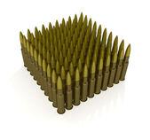 Cartridges for machine gun — Stock Photo